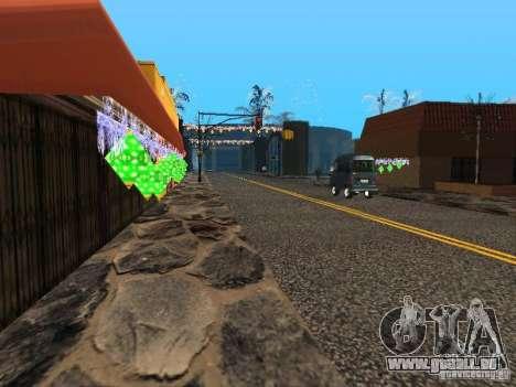 Nouvel an à la rue Grove pour GTA San Andreas quatrième écran
