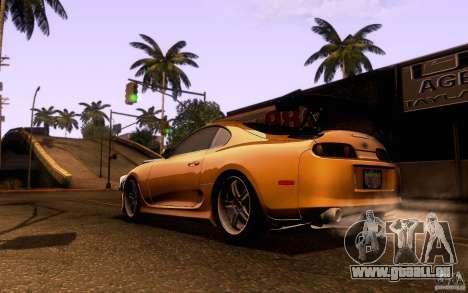 Toyota Supra Top Secret pour GTA San Andreas sur la vue arrière gauche