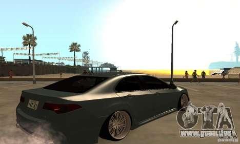 Acura TSX 2010 pour GTA San Andreas sur la vue arrière gauche