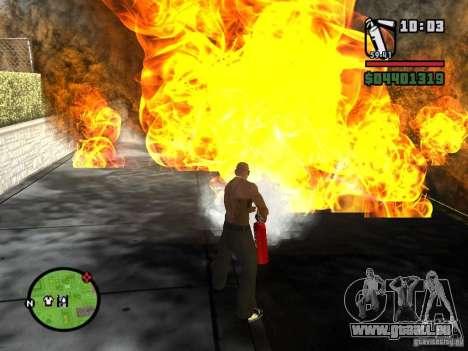 Nouvel extincteur pour GTA San Andreas deuxième écran