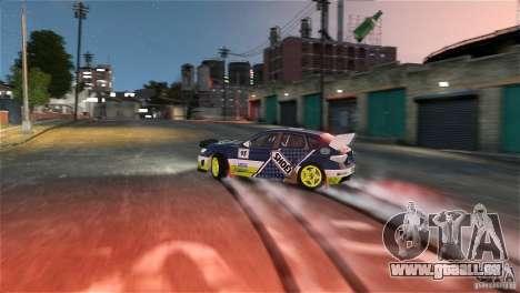 Subaru Impreza WRX STI Rallycross SHOEL Vinyl pour GTA 4 est une vue de l'intérieur