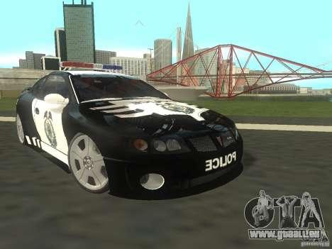 Pontiac GTO Police pour GTA San Andreas