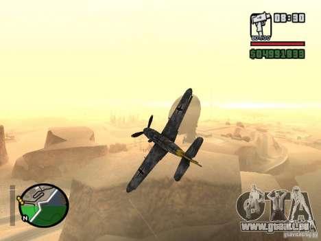 BF-109 G-16 für GTA San Andreas Rückansicht