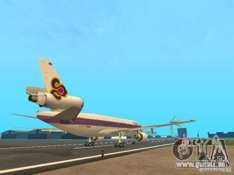 McDonell Douglas  DC 10 Thai Airways für GTA San Andreas rechten Ansicht