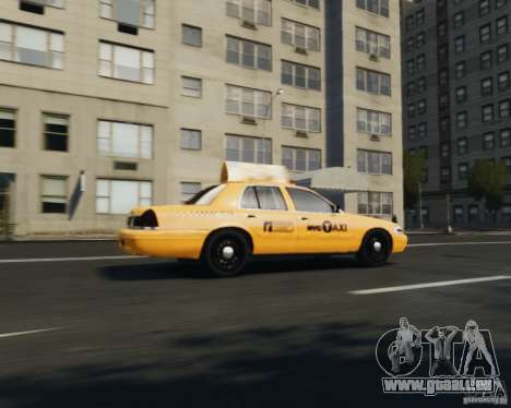 Ford Crown Victoria NYC Taxi 2012 pour GTA 4 est un droit