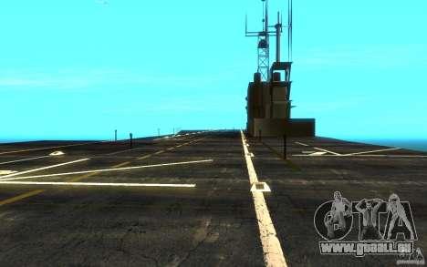 New Aircraft carrier für GTA San Andreas Rückansicht