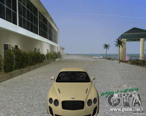 Bentley Continental SS pour GTA Vice City sur la vue arrière gauche