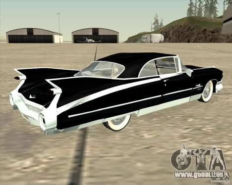 Cadillac Eldorado 1959 für GTA San Andreas zurück linke Ansicht