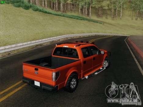 Ford F-150 pour GTA San Andreas vue intérieure