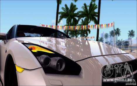 Nissan GTR 2011 Egoist (version avec la saleté) pour GTA San Andreas vue de dessous