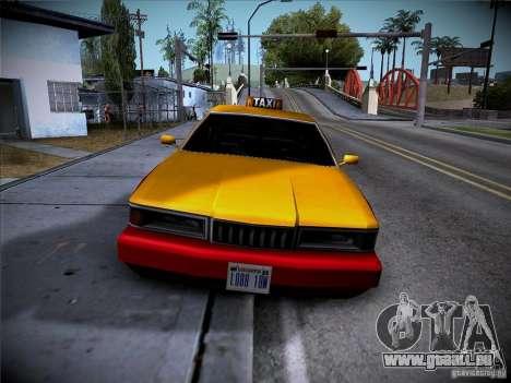 Sentinel Taxi pour GTA San Andreas laissé vue