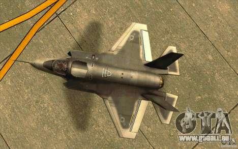 Lockheed F-35 Lightning II pour GTA San Andreas vue arrière