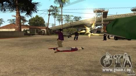 Sur la rue Grove a été attaquée par les Ballas pour GTA San Andreas quatrième écran