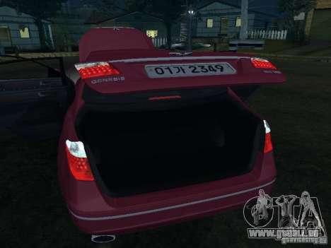 Hyundai Genesis für GTA San Andreas obere Ansicht