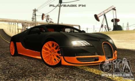 Bugatti Veyron SuperSport für GTA San Andreas zurück linke Ansicht