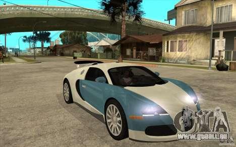 Bugatti Veyron Final pour GTA San Andreas vue arrière
