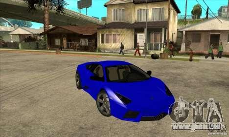 Lamborghini Reventon für GTA San Andreas Rückansicht