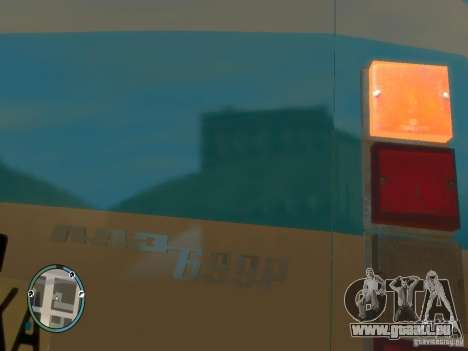 LAZ 699R (98-02) v1. 0 für GTA 4 hinten links Ansicht