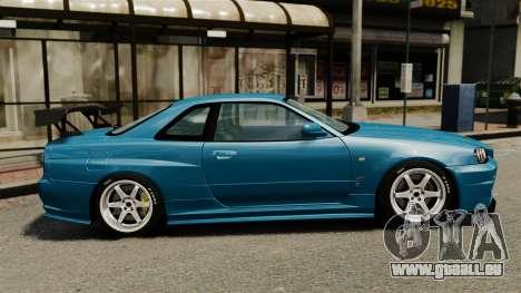 Nissan Skyline R34 2002 v1.1 pour GTA 4 est une gauche