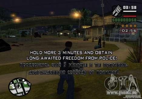 Gewonnene Freiheit von Polizei 1.0 für GTA San Andreas
