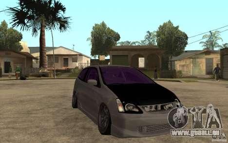 Honda Civic Type-R pour GTA San Andreas vue arrière