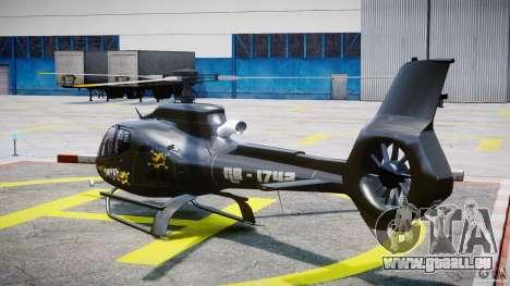 Eurocopter 130 B4 für GTA 4 hinten links Ansicht