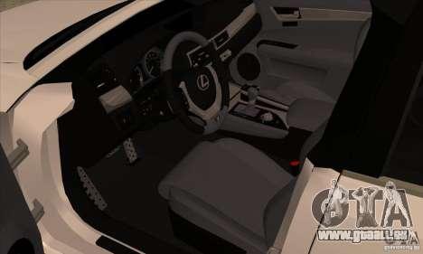 Lexus GS350 F Sport Series IV 2013 pour GTA San Andreas vue arrière