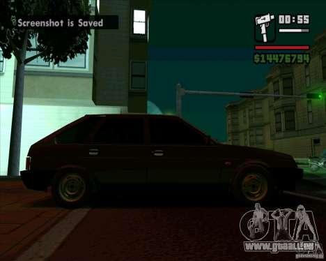 VAZ 2109 05 Final pour GTA San Andreas sur la vue arrière gauche