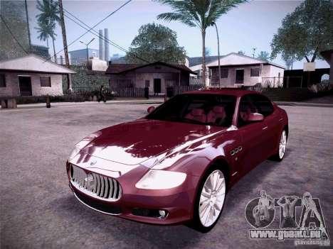 Maserati Quattroporte 2010 pour GTA San Andreas laissé vue