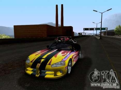 Dodge Viper SRT-10 Custom für GTA San Andreas obere Ansicht