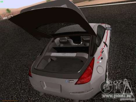 Nissan 350Z Nismo S-Tune für GTA San Andreas Unteransicht
