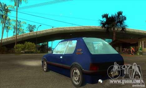 Peugeot 205 GTI für GTA San Andreas zurück linke Ansicht