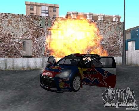 Citroen DS3 WRC für GTA San Andreas Rückansicht
