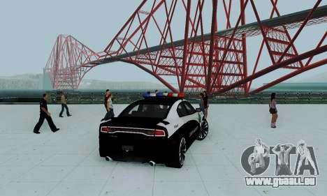 Dodge Charger 2012 Police pour GTA San Andreas laissé vue
