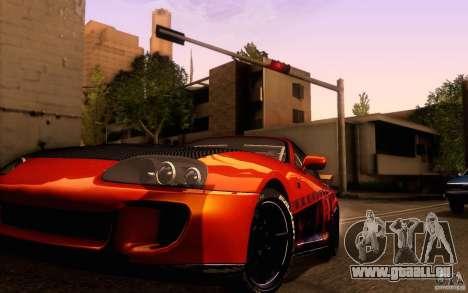 Toyota Supra pour GTA San Andreas vue intérieure