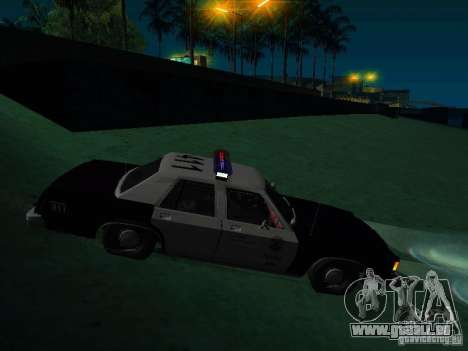 Ford Crown Victoria LTD 1992 SFPD pour GTA San Andreas vue de droite