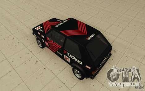 Volkswagen Golf Mk1 - Stock pour GTA San Andreas salon