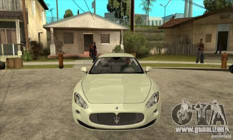 Maserati Gran Turismo 2008 pour GTA San Andreas vue arrière