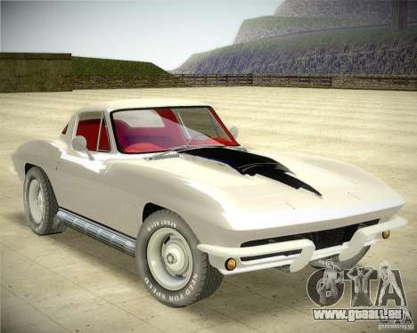 Chevrolet Corvette Stingray pour GTA San Andreas vue de droite