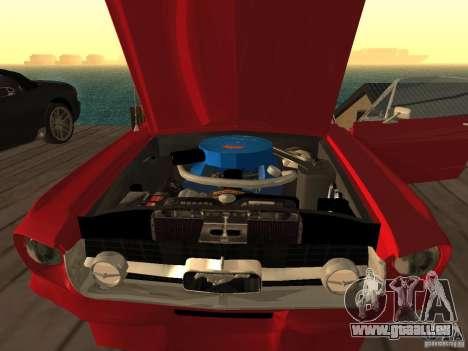 Ford Mustang 67 Custom pour GTA San Andreas sur la vue arrière gauche