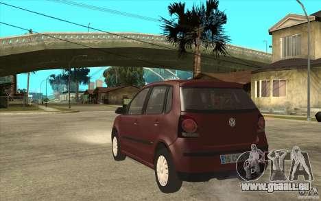 Volkswagen Polo 2006 pour GTA San Andreas sur la vue arrière gauche