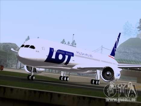 Boeing 787-9 LOT Polish Airlines für GTA San Andreas zurück linke Ansicht