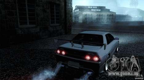 Nissan Skyline GT-R32 pour GTA San Andreas sur la vue arrière gauche