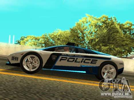 Lamborghini Murcielago LP640 Police V1.0 pour GTA San Andreas vue de droite