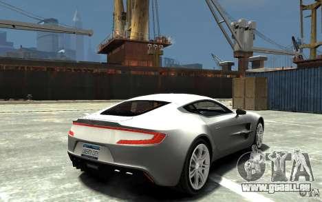 Aston Martin One 77 für GTA 4 rechte Ansicht