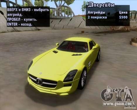 Mercedes-Benz SLS AMG V12 TT Black Revel pour GTA San Andreas vue de côté