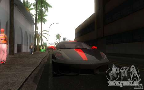 Ferrari F430 für GTA San Andreas zurück linke Ansicht
