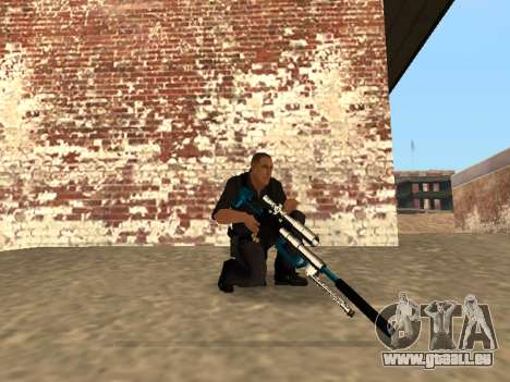 Chrome and Blue Weapons Pack pour GTA San Andreas dixième écran