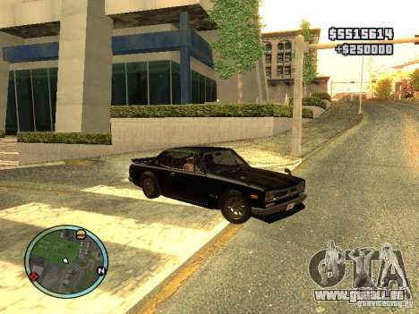 Nissan Skyline 2000 GT-R für GTA San Andreas zurück linke Ansicht