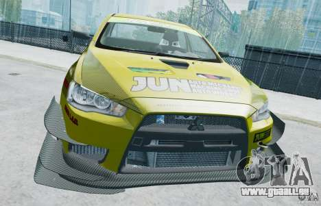 Mitsubishi Lancer X JUN für GTA 4 hinten links Ansicht